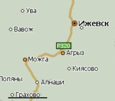 Село Грахово. Удмуртия. Карта.