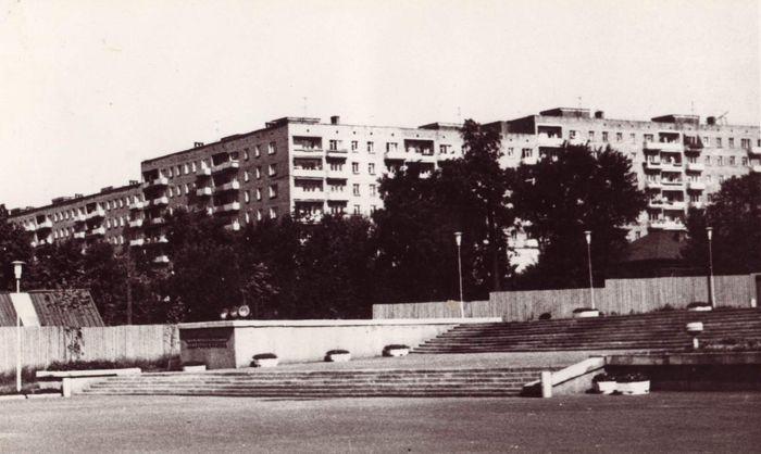 Улица Горького, центральная эспланада. Фото 1975 года, автор В.Ашпин.