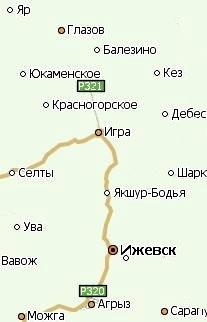 Село Красногорское Удмуртия. Карта.