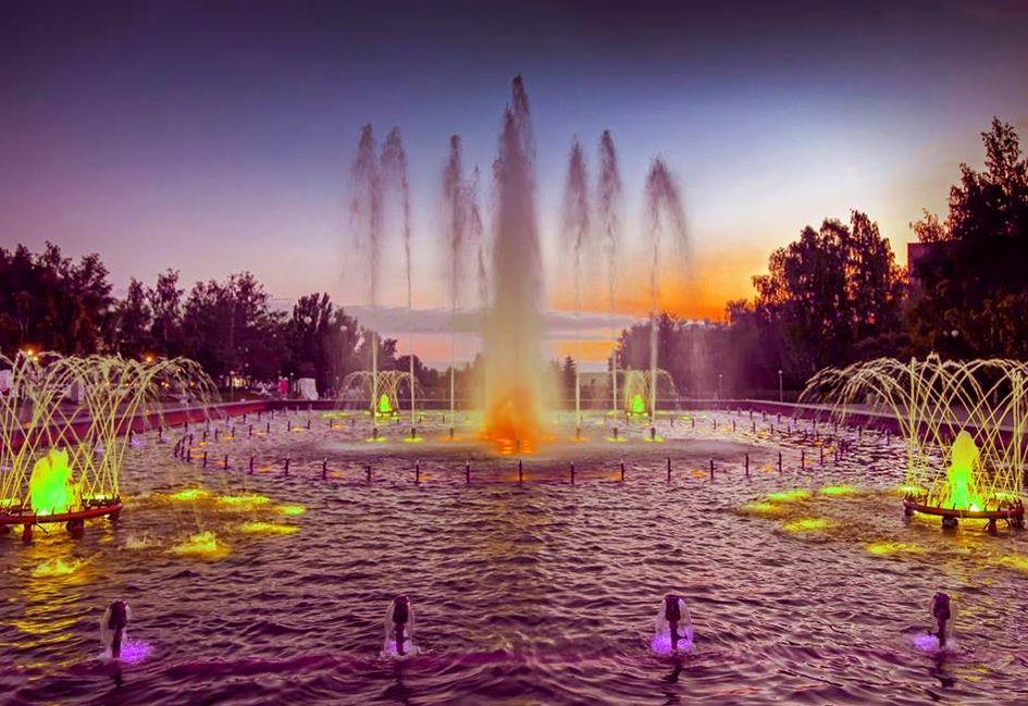 Светомузыкальный фонтан в Ижевске. Мы его больше не увидим! 2018 г.