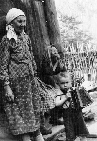 Деревня Чудзялуд. Вавожский район. Фото: 1958 г.