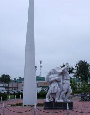 Монумент Победы в честь Глазовчан, погибших в боях за Родину в годы ВОВ. Сооруженный в честь 25-летия победы в Великой Отечественной войне 1941-1945 гг.