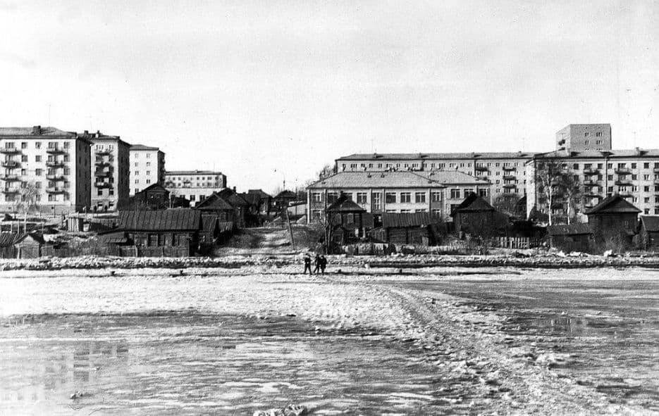 Причал на Ижевском пруду в Колтоме. 1967 - 1970 гг. Ижевск.