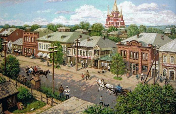 Ижевск. Базарная улица. Лето. Автор: Виктор Борисович Котляров.