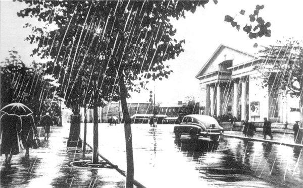 """6.11.1955 года двухзальный кинотеатр """"Дружба"""" принял первых зрителей."""