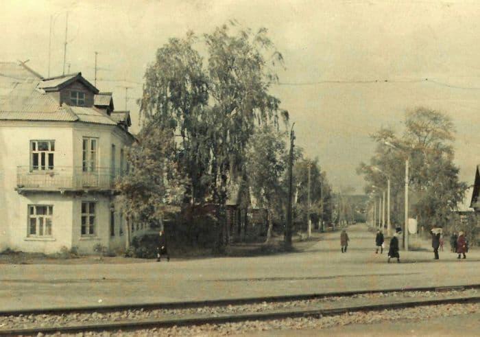 Улица Октябрьская. Можга. Фото: 1970-е годы, Можгинский краеведческий музей.