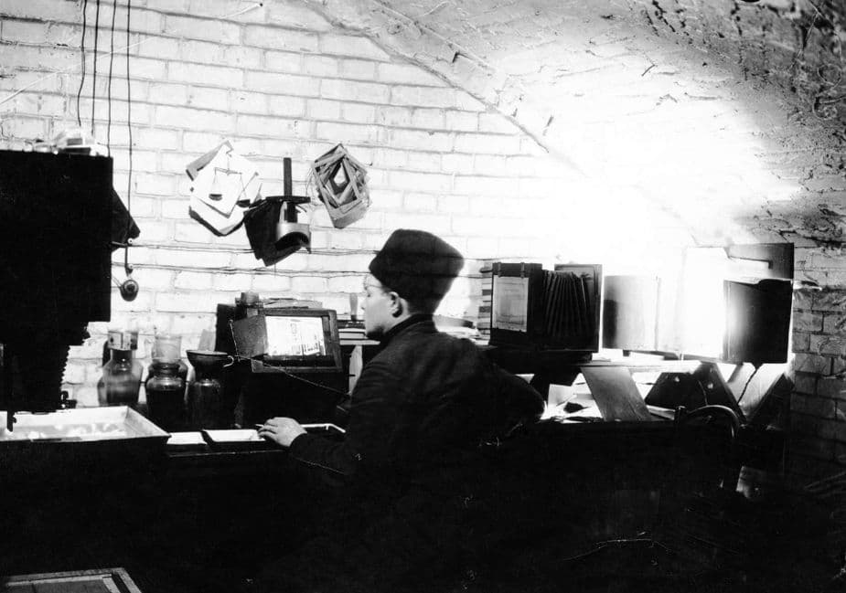 Фото-лаборатория в подвале старого раскрещенного Михайловского собора. Ижевск.