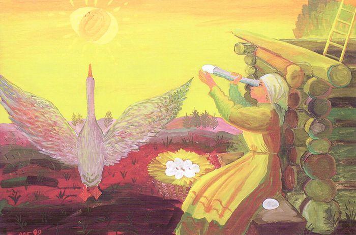 Весна в деревне. 1992. Гарипов Менсадык Гарипович.