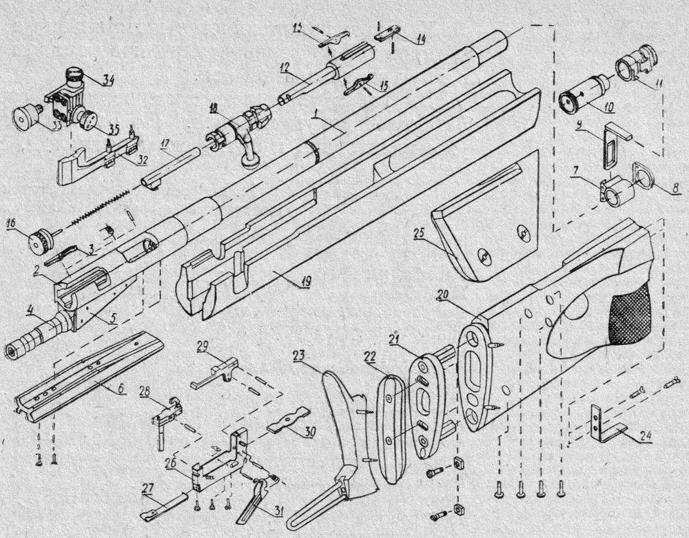 Детали и сборки винтовки Тайфун-3.