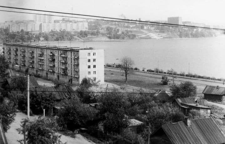 Ул. Береговая Ижевск. 1974 - 1975 гг.