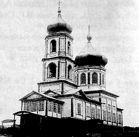 Село Курья. Храм Св. Николая. Приход основан в 1858 г. Разрушен.
