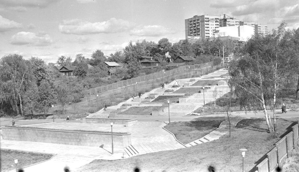 Центральная эспланада Ижевска Фото 1975 годов.