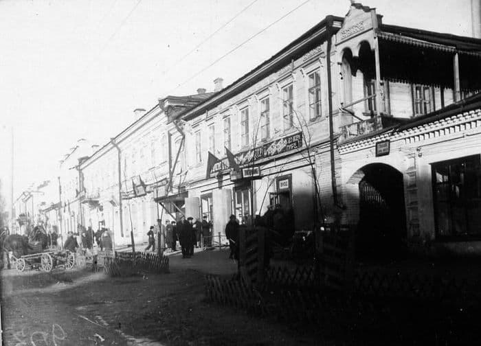 Дома по Коммунальной улице (ныне ул. Горького). 1937 г.  Фото старого Ижевска.