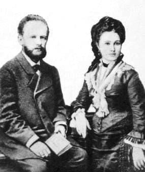 Чайковский П.И. с женой Милюковой А.И.1877