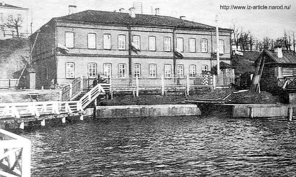 Здание управления Ижевского оружейного и сталеделательного заводов. Примерно 1912 год.