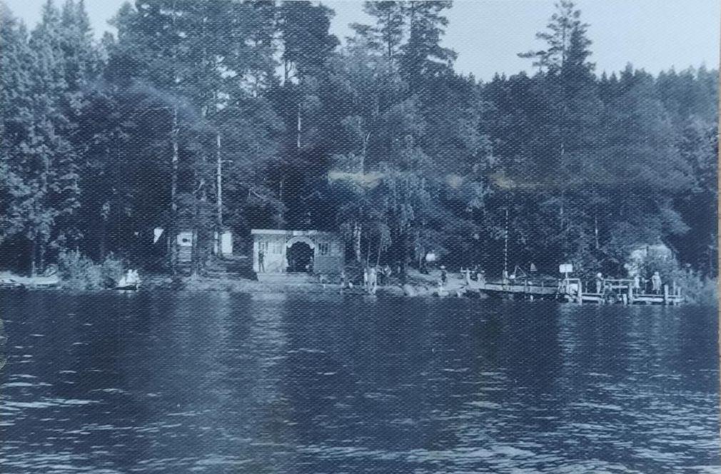 Пристань Соловьевские дачи. Ижевский пруд. 1959 г.