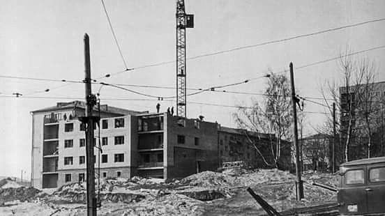 Улица Кирова Ижевск. Строительство дома N11. 1971—1972 гг.