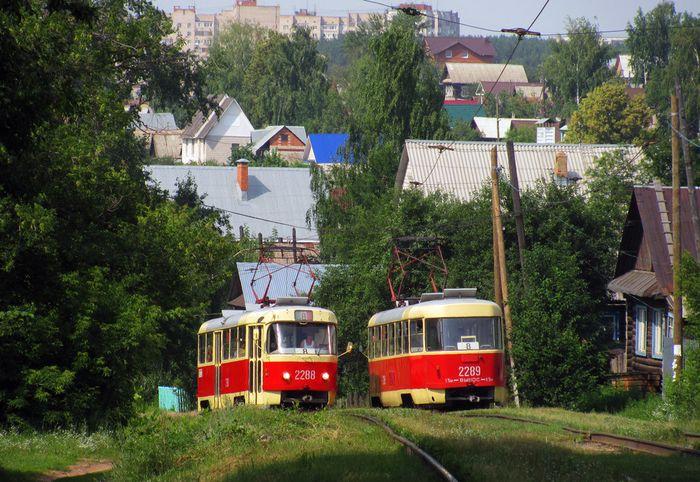 Ижевск. Трамвайный маршрут №8.