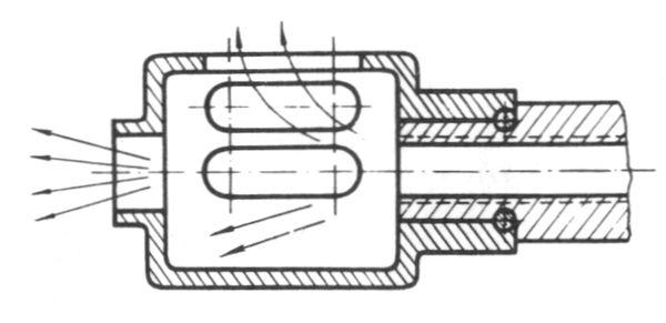 Компенсатор — несимметричный дульный тормоз дробового ружья.