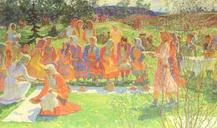 "Праздник ""Гырон быдтон"". 1970. Семен Виноградов художник."