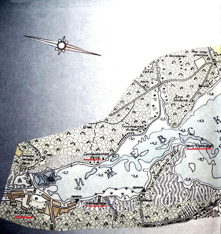 Соловьёвская дача. Ижевский пруд. Карта.