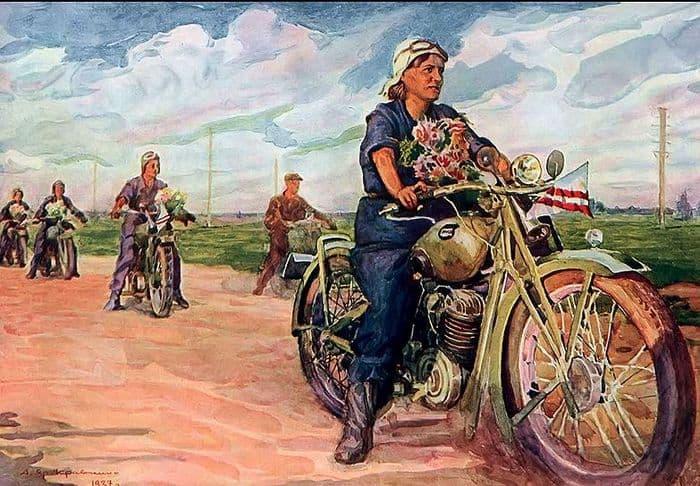 Анатолий Яр-Кравченко - Мотоциклетный пробег жен инженеров.