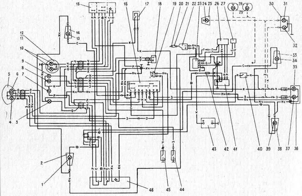 Схема электрическая мотоцикла ИЖ-Планета 5-01