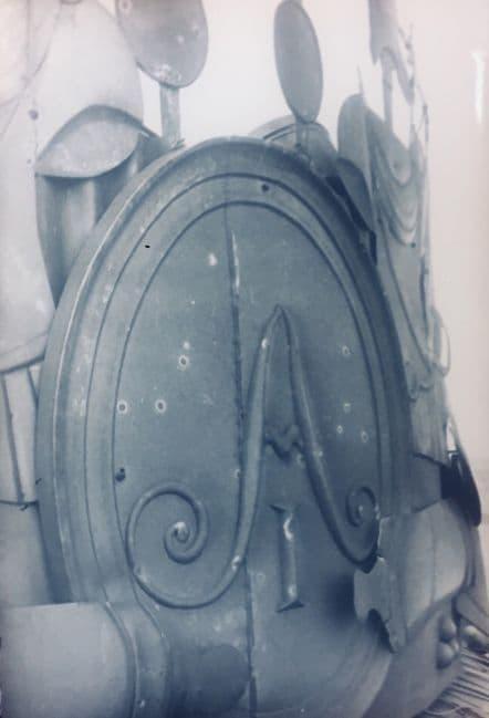 Щит с вензелем Александра Первого на арматуре башни Главного корпуса Ижевского оружейного завода.