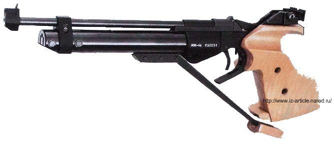 Пневматический пистолет  ИЖ-46. Изготавливается на Ижевском механическом заводе.