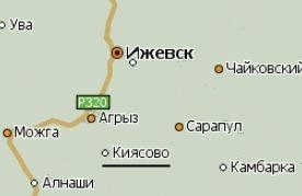 Село Киясово. Карта.
