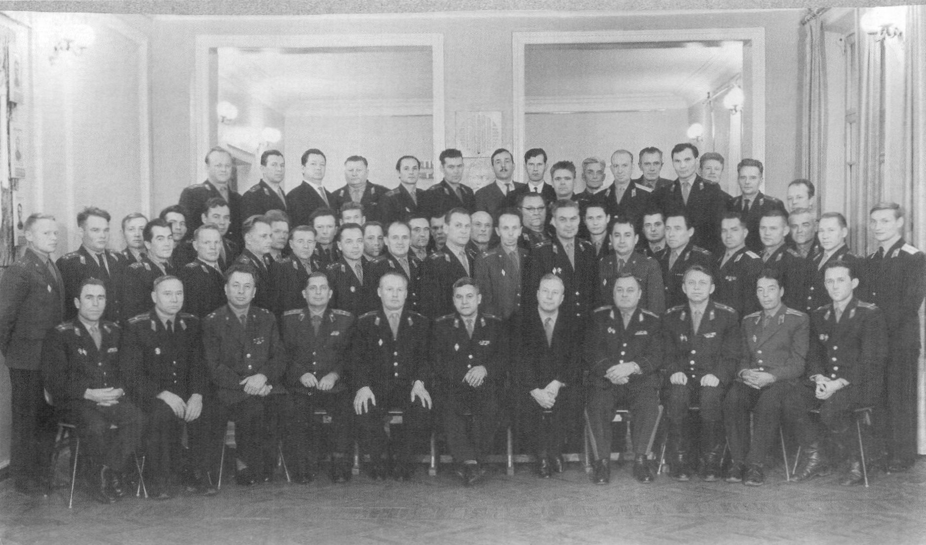 Руководящий состав МВД Удмуртии в 1965 году.
