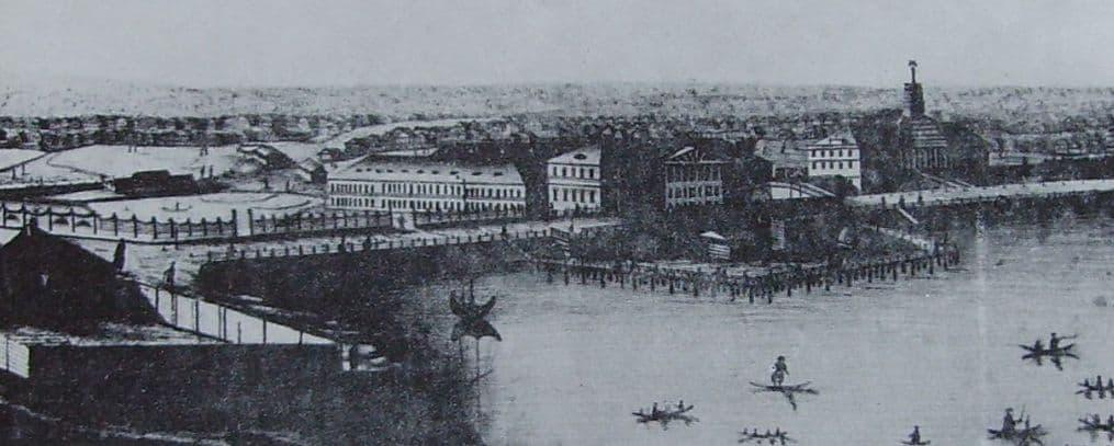 Панорама Ижевска, выполненная местным художником П.С.Трубенковым в 1834 году.
