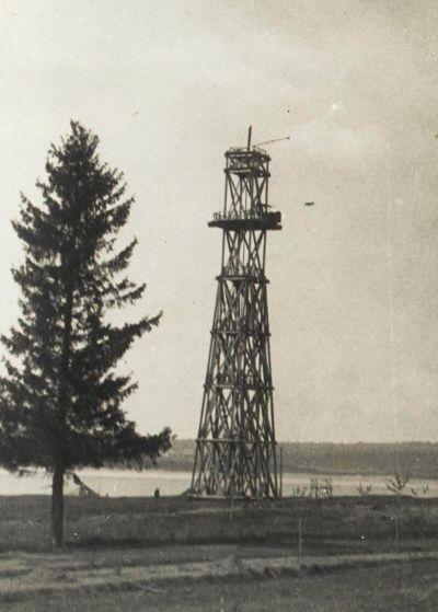 Парашютная вышка в парке Кирова. Ижевск. Фото 1935 год.