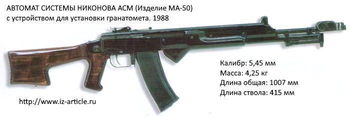 АВТОМАТ СИСТЕМЫ НИКОНОВА АСМ (Изделие МА-50)