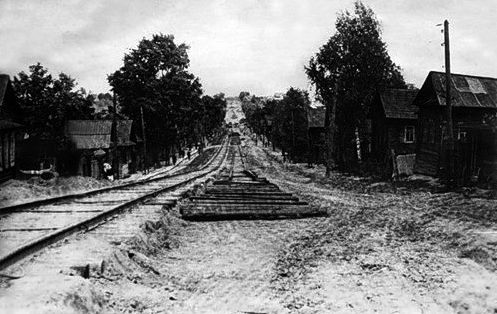 Строительство вторых трамвайных путей. Ижевск.