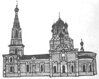 Большая Норья. Храм освящен в честь Апостолов Петра и Павла. Приход основан в 1841 г. Первоначально - деревянная, 1888-1893 каменная. Русский стиль.