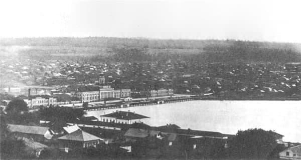 Ижевский оружейный завод. Центральный корпус с башней. Заречная и Нагорная части Ижевска.