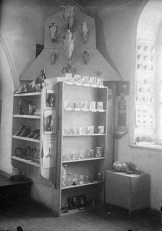 Экспозиция Музея местного края в 1920-е годы в Ижевске в здании бывшей лютеранской кирхи.