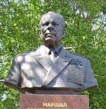 Бюст маршала Советского Союза Устинова Д.Ф. Площадь 50 лет Октября,1967 г.