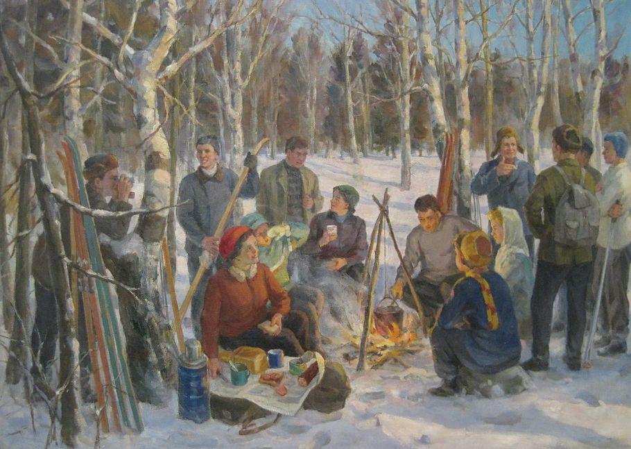 Косолапов Н. А. - У костра (1967).