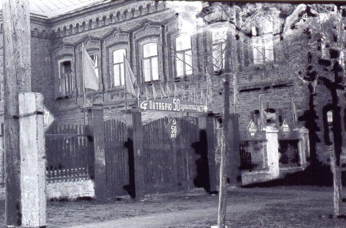 Дом купца Дмитрия Ширшова. Камбарка. Фотография 1967 года.