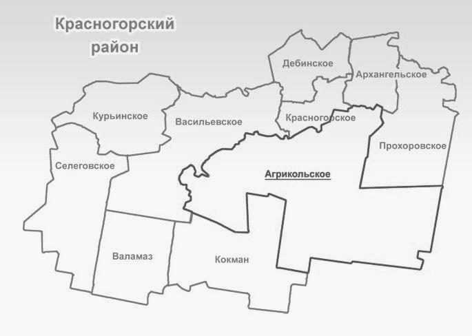Красногорский район. Карта.