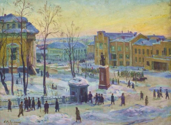 Н.А.Косолапов (1899-1974) На фронт!. 1943 год.
