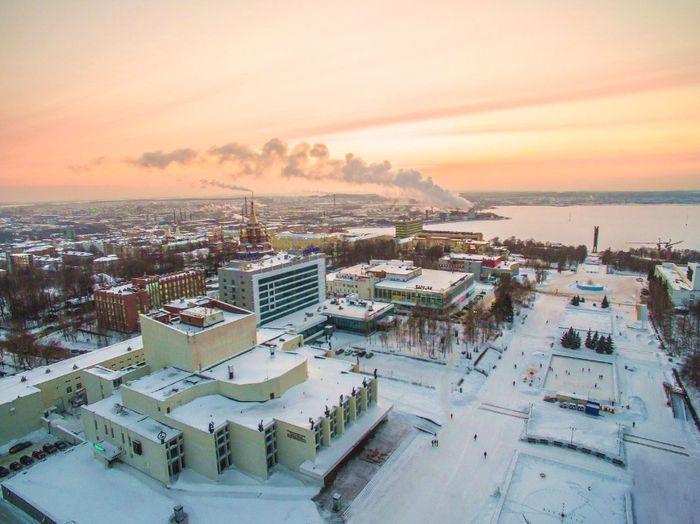 Центральная площадь Ижевска. Вид сверху. 2018 г.