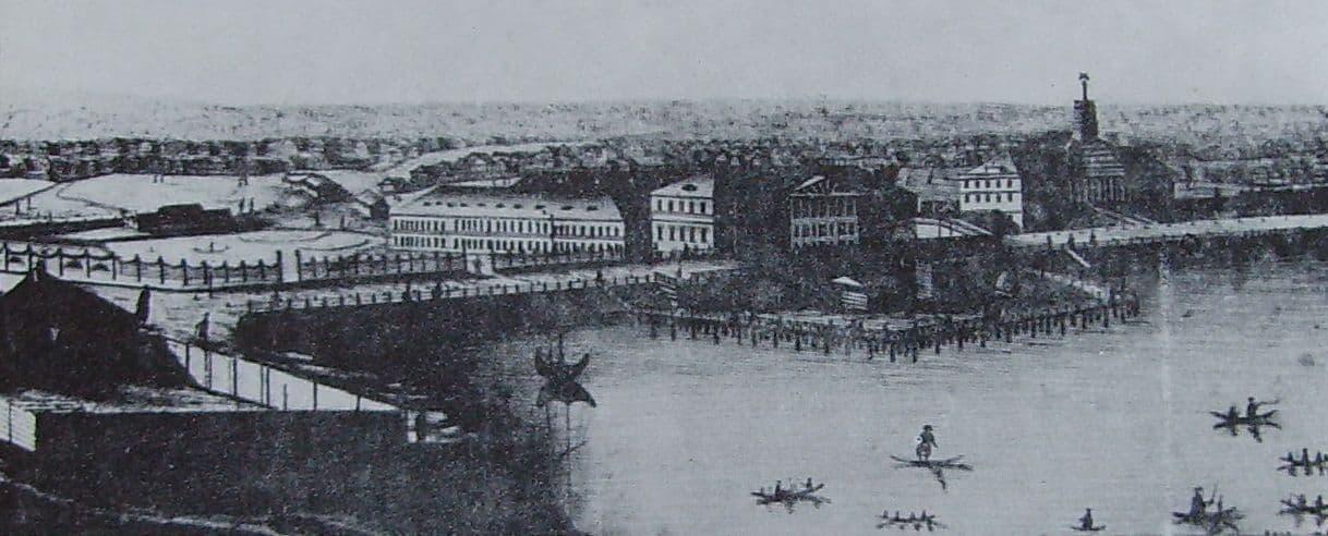 Панорама Ижевска, выполненная местным художником П.С. Трубенковым в 1834 году