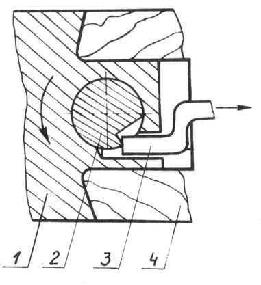 Механизм привода предохранителя в ружьях типа Иж-27.