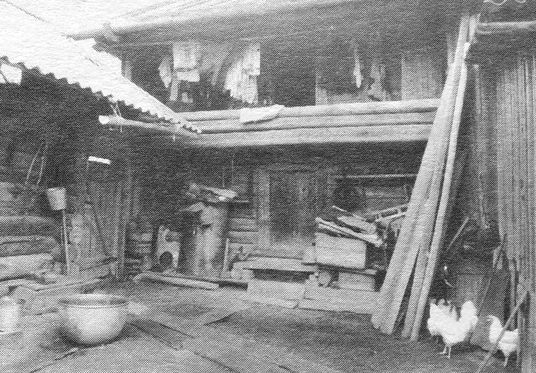 Двухэтажный амбар кенос. 1990 г. Дер. Жувам, Юкаменский район.