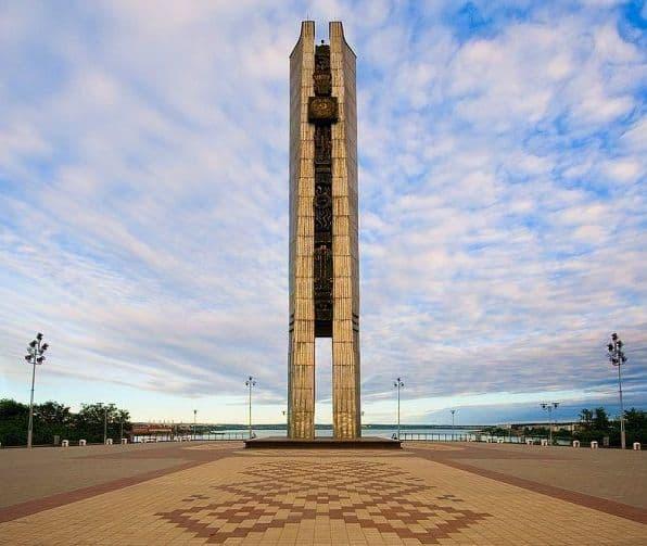 Монумент - Навеки с Россией. Ижевск.
