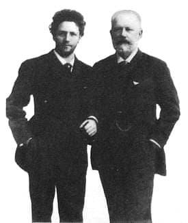 Чайковский П.И с виолончелистом Брандуковым А.А. 1888г.