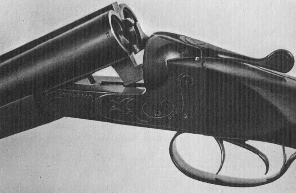 Двуствольное горизонтальное ружьё Иж-26Е.